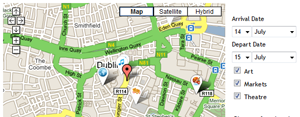 Map of Dublin events